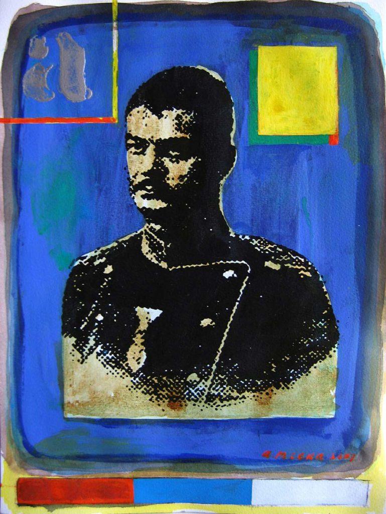 15 2007 Kralj Aleksandar Obrenovic tus akril i tempera na papiru 555 x 415 cm