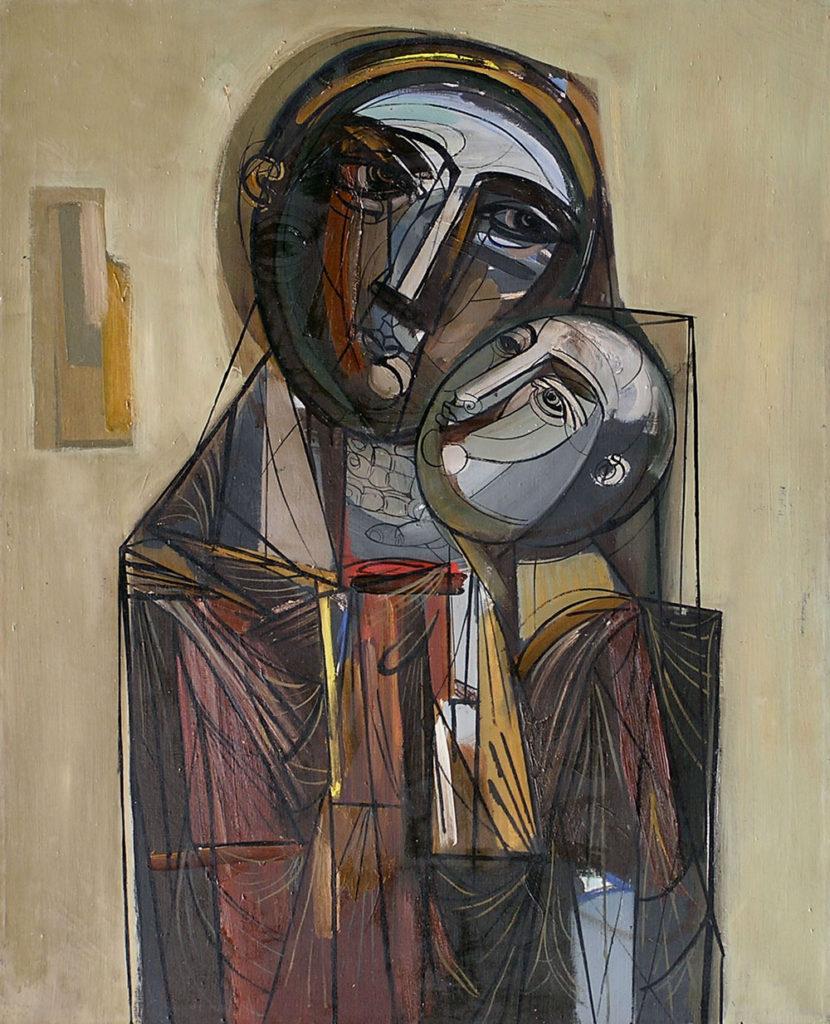 Lazar Vozarević - Materinstvo, slika je izložena u Novom Sadu u Galeriji likovne umetnosti poklon zbirke Rajka Mamuzića