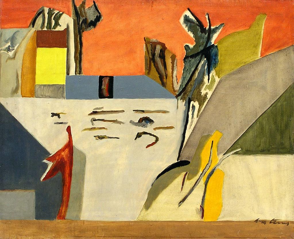 Slika Stojana Ćelića, Severni deo Banata u Galeriji likovne umetnosti poklon zbirka Rajka Mamuzića