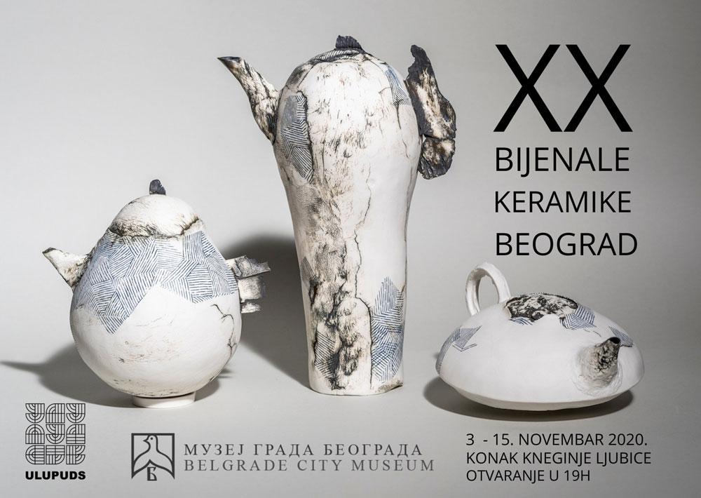 "Plakat izložbe ""XX Bijenale keramike Beograd"""