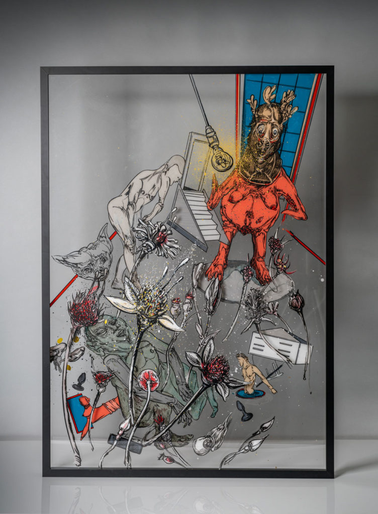 """Opresija I"", autor  Vladimir Lalić, Muzej grada Beograda u Resavskoj ulici"