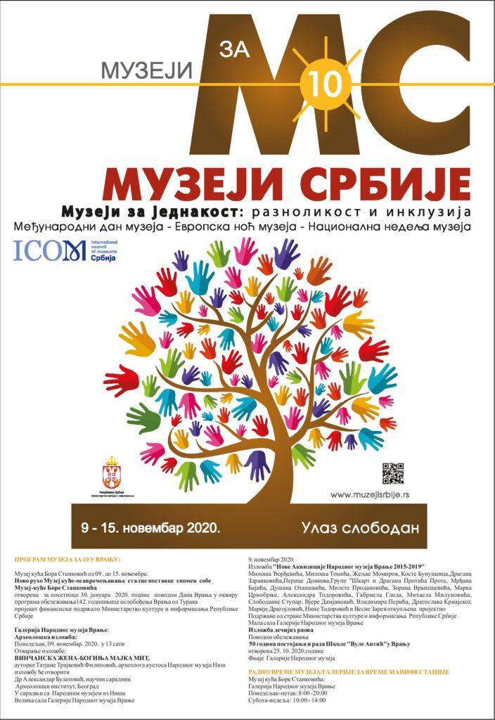 """Program Narodnog muzeja Vranje u toku Manifestacije """"Muzeji za 10"""""""