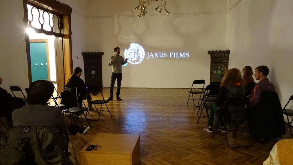 Projekcija filma, Savremena galerija Subotica