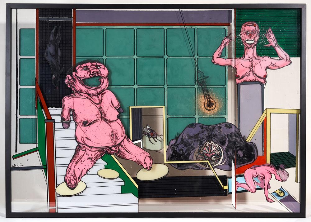 """Slika """"Soba 3"""" autora Vladimira Lalića kao posebna izložba u Muzeju grada Beograda"""