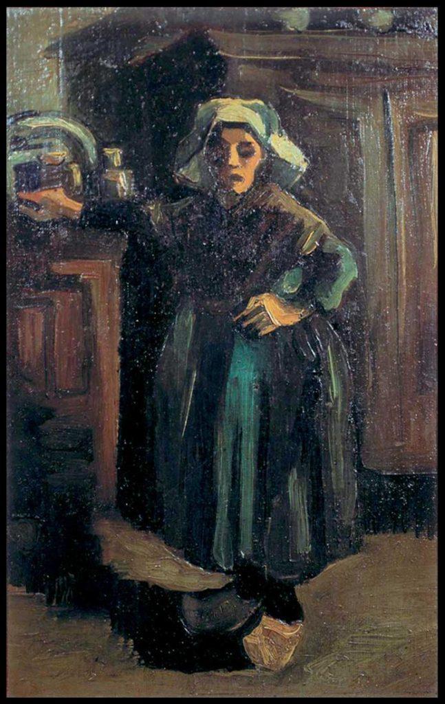 """Slika Van Goga """"Seljanka u sobi"""" u Narodnom muzeju u Beogradu"""