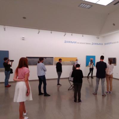 Radomir Damnjanović Damnjan u Narodnom muzeju u Beogradu
