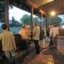 Posetioci u Amidžinom Konaku