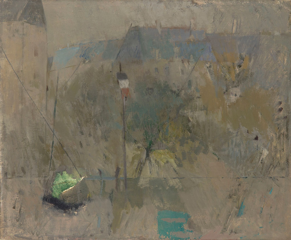 "Bulevar Monparnas - slika sa izložbe  Ljubice-Cuce Sokić, Galerija ""Mostovi Balkana"", Manifestacija ""Muzeji za 10"", 2021"