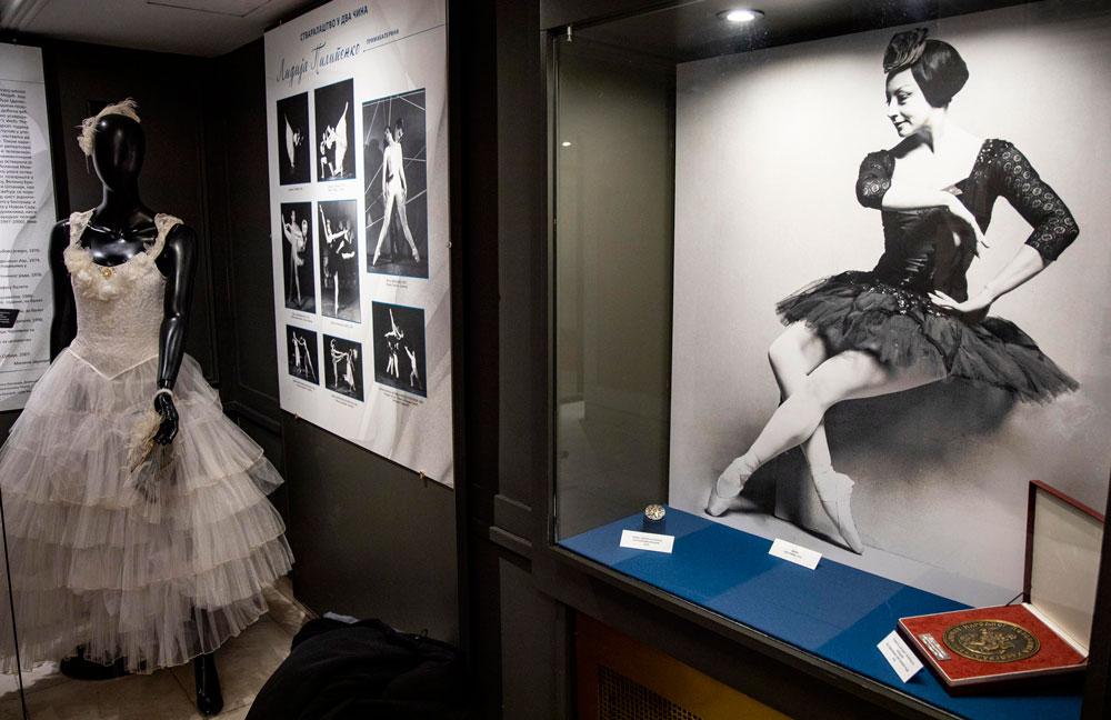 """Otvaranje izložbe """"Stvaralaštvo u dva čina"""" posvećene Lidiji Pilipenko Muzej Narodnog pozorišta, Manifestacija """"Muzeji za 10"""", 2021. godine"""