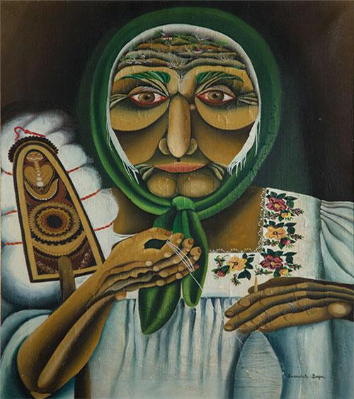 Slika, Vera Ivanković - Old Woman, Moderna galerija, Centar za kulturu Lazarevac, Manifestacija Muzeji za 10, 2021. godine