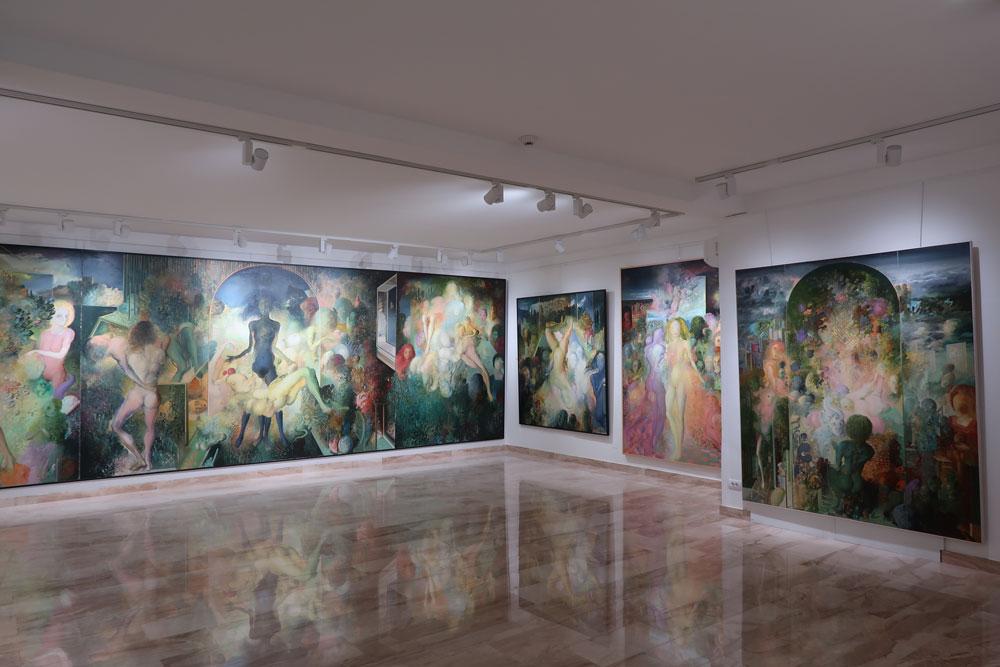 Ljuba Popović, Platno bez štafelaja, moderna galerija Valjevo