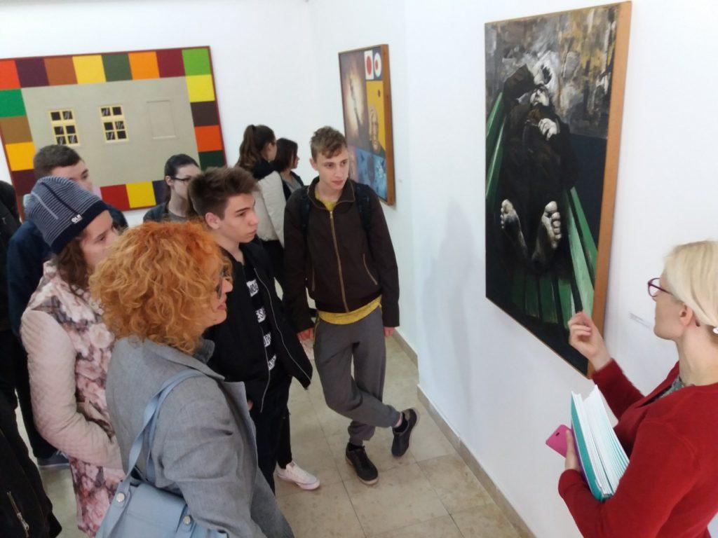 Stručno vođenje izložbe u Savremenoj galeriji Zrenjanin