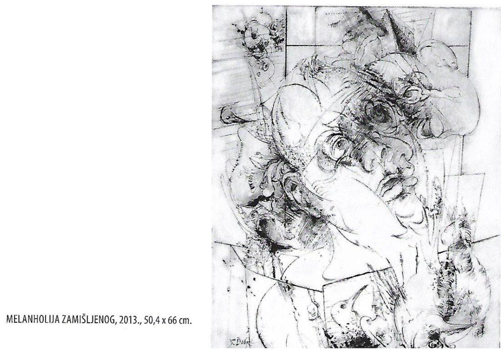 Melanholija zamišljenog - slika autora Dobrog Stojanovića, Izložba. Narodni muzej Vranje, Manifestacija Muzeji za 10 2021. godine
