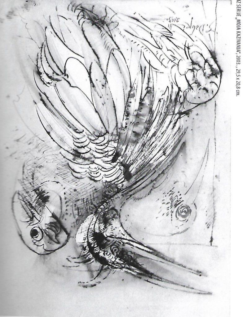 Iz edicije Moja kazivanja - slika autora Dobrog Stojanovića, Izložba. Narodni muzej Vranje, Manifestacija Muzeji za 10 2021. godine