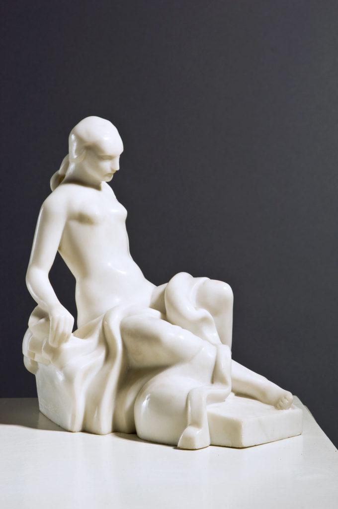 Sedeči ženski akt, Autor Sreten Stojanović, Legat Galerija Nikole Koke Jankovića, Muzeji za 10, Manifestacija 2021. godine