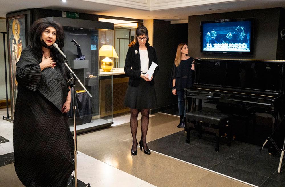 """Svečano otvaranje izložbe """"Stvaralaštvo u dva čina"""" posvećene Lidiji Pilipenko Muzej Narodnog pozorišta, Manifestacija """"Muzeji za 10"""", 2021. godine"""