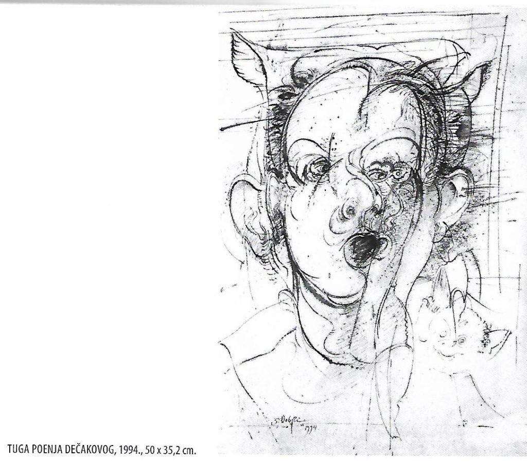 Tuga poenja dečakovog - slika autora Dobrog Stojanovića, Izložba. Narodni muzej Vranje, Manifestacija Muzeji za 10 2021. godine