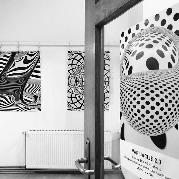 """Ulaz u malu galeriju, Bojana Bojović-Milošević, Galerija Kulturnog centra """"Laza Kostić Sombor, naslovna slika, Manifestacija Muzeji za 10, 2021,"""