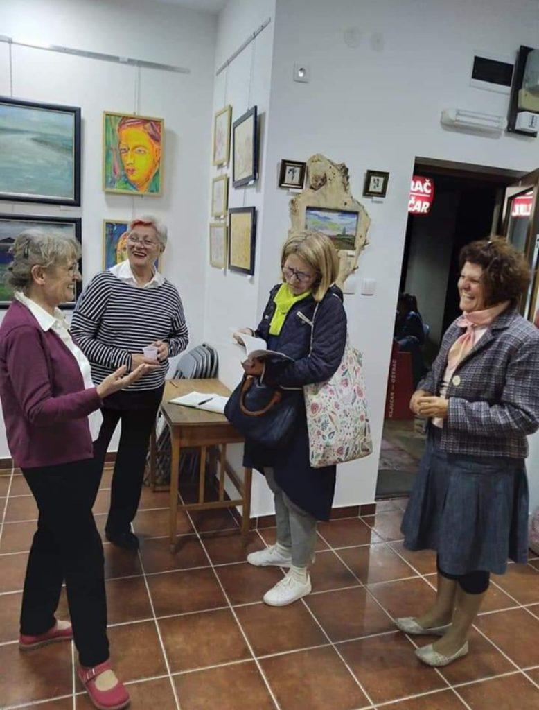 Druženje i razgovor u Udruženju Likovnih Stvaralaca Novi Sad, Manifestacija Muzeji za 10, 2021